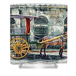 A Carriage In Intramuros, Manila Shower Curtain