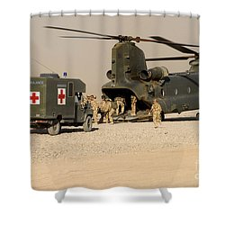 A Ch-47 Chinook Helicopter Drops Shower Curtain by Andrew Chittock