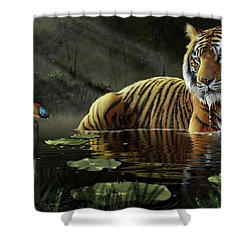 A Chance Encounter Shower Curtain
