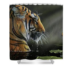 A Chance Encounter II Shower Curtain