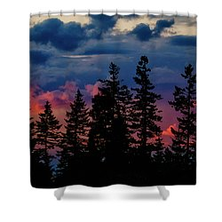 Shower Curtain featuring the photograph A Chance Of Thundershowers by Albert Seger
