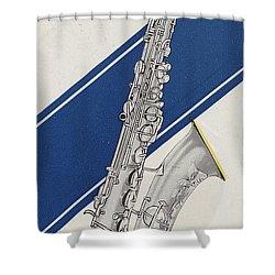 A Charles Gerard Conn Bb Tenor Shower Curtain