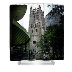 A Charlotte Church Tower Shower Curtain