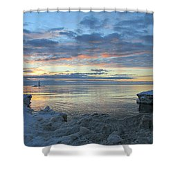 Shower Curtain featuring the photograph A Chilly View by Greta Larson Photography