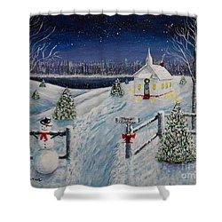A Christmas Eve Shower Curtain