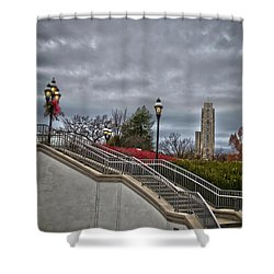 A Christmas View Shower Curtain
