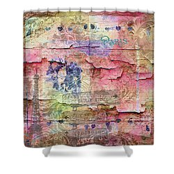 A City Besieged Shower Curtain by Paula Ayers