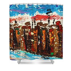 A City Like Baltimore Shower Curtain