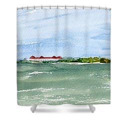 A Clear Day At Cape May Point  Shower Curtain