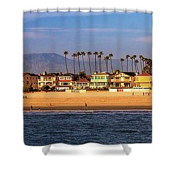 Shower Curtain featuring the photograph A Clear Day At The Beach by James Eddy