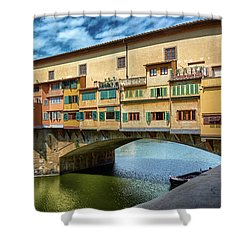 A Closer Look To Ponte Vecchio Shower Curtain