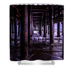 A Cloudy Day Under The Pier Shower Curtain