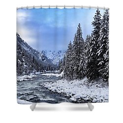A Cold Winter Day  Shower Curtain by Lynn Hopwood