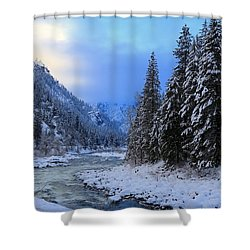 A Cold Winter Day Version 2 Shower Curtain by Lynn Hopwood