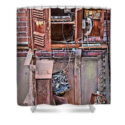 Shower Curtain featuring the photograph A Collaboration Of Rust by DJ Florek