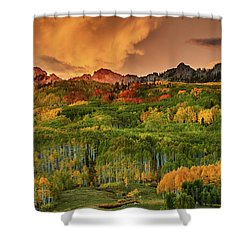 Shower Curtain featuring the photograph A Colorado Autumn Along Kebler by John De Bord
