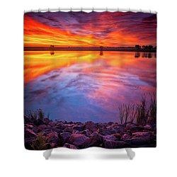 A Colorado Birthday Sunrise Shower Curtain