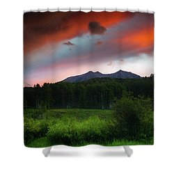 Shower Curtain featuring the photograph A Colorado Mountain Sunset by John De Bord