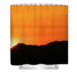 A Colorado Sunset Shower Curtain