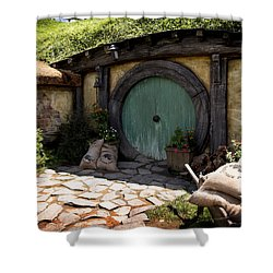 A Colorful Hobbit Home Shower Curtain