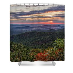 Shower Curtain featuring the photograph A Colorful Sunrise by Lori Coleman