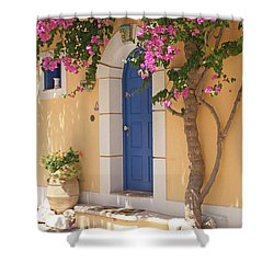 A Colorful Welcome Shower Curtain