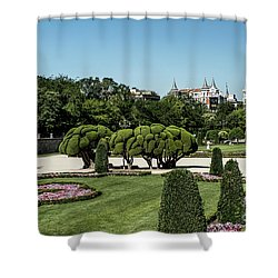 Colorfull El Retiro Park Shower Curtain