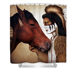 A Conversation Shower Curtain