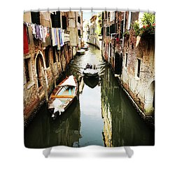 A Corner In Venice Shower Curtain