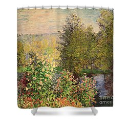 A Corner Of The Garden At Montgeron Shower Curtain