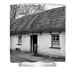 A Country Cottage Shower Curtain by Martina Fagan