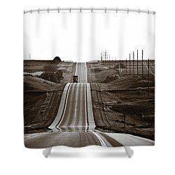 A Country Mile 1 Shower Curtain by Marilyn Hunt