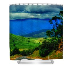 A Country Mile Shower Curtain by Blair Stuart