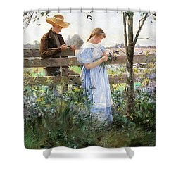 A Country Romance Shower Curtain by David B Walkley