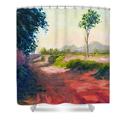 A Countryside Road Shower Curtain