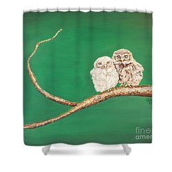 A Couple Of Owls Shower Curtain
