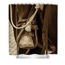 A Cowboy's Boot Shower Curtain