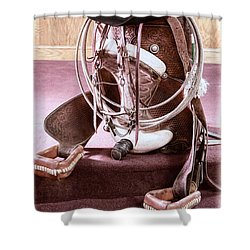 A Cowgirl's Gear Shower Curtain