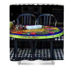 A Cozy Table For Two Shower Curtain