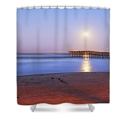 A Crystal Moon Shower Curtain by Joseph S Giacalone