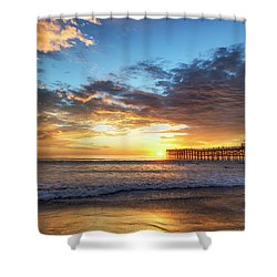 A Crystal Sunset Shower Curtain by Joseph S Giacalone