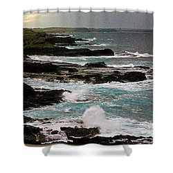 A Dangerous Coastline Shower Curtain