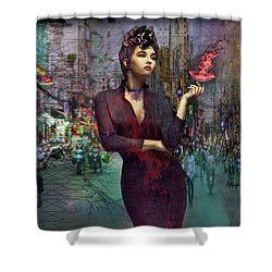 A Dangerous Life Shower Curtain