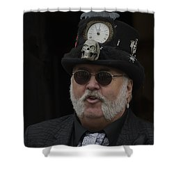 A Dapper Steampunk Shower Curtain