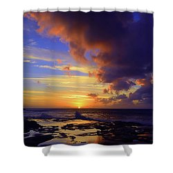 Shower Curtain featuring the photograph A Dark Cloud Among Colour by Tara Turner