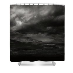 A Dark Moody Storm Shower Curtain