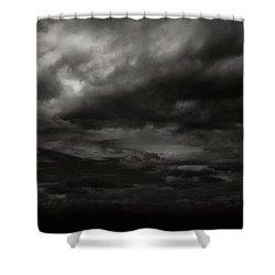 A Dark Moody Storm Shower Curtain
