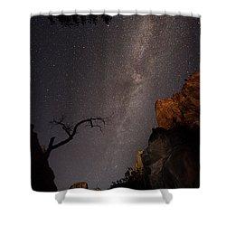 A Dark Night In Zion Canyon Shower Curtain