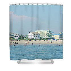 Shower Curtain featuring the photograph A Day At The Beach - Cape May New Jesey by Bill Cannon