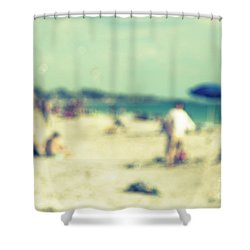 Shower Curtain featuring the photograph a day at the beach I by Hannes Cmarits